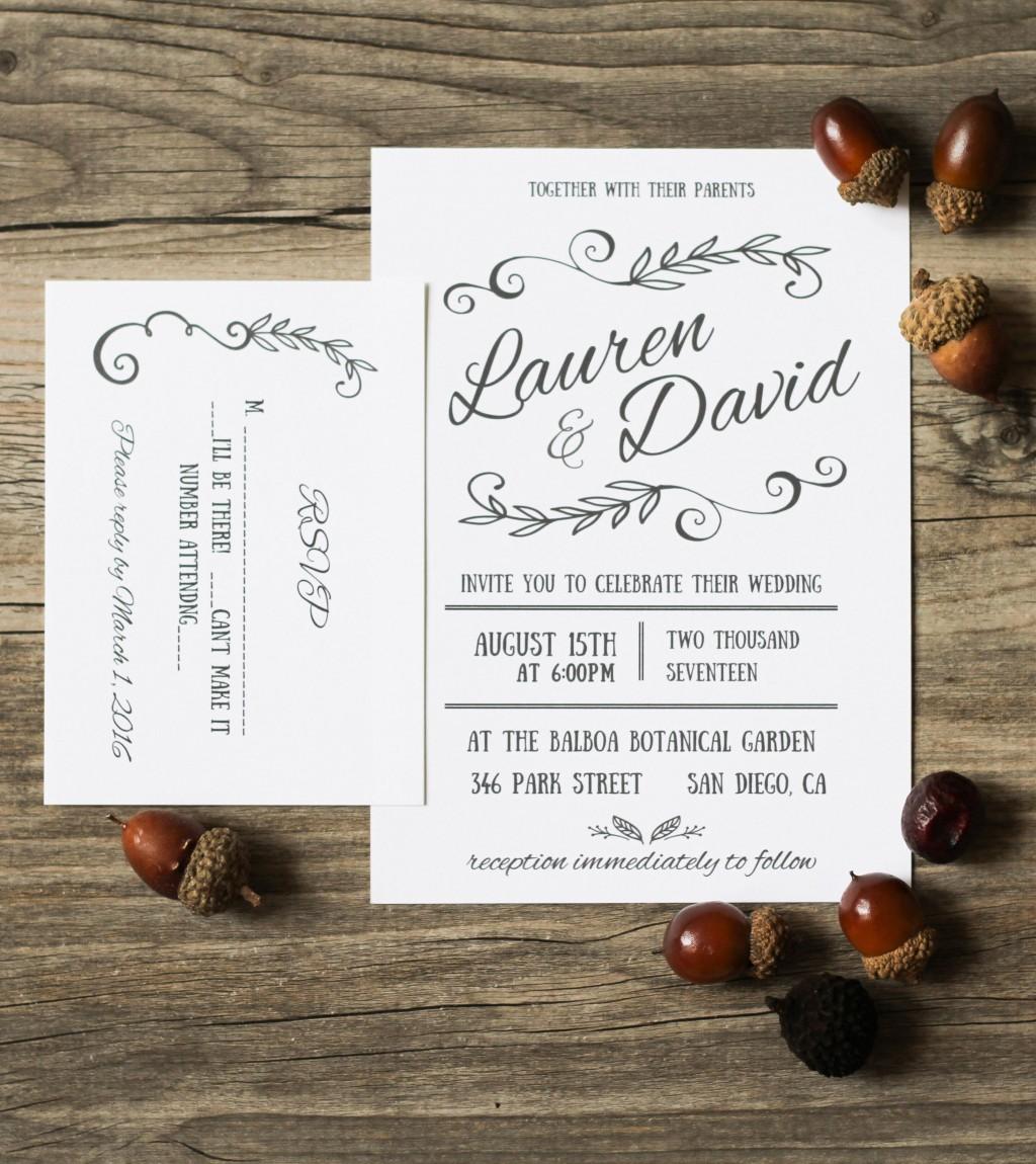 001 Sensational Microsoft Office Wedding Invitation Template Picture  Templates MLarge