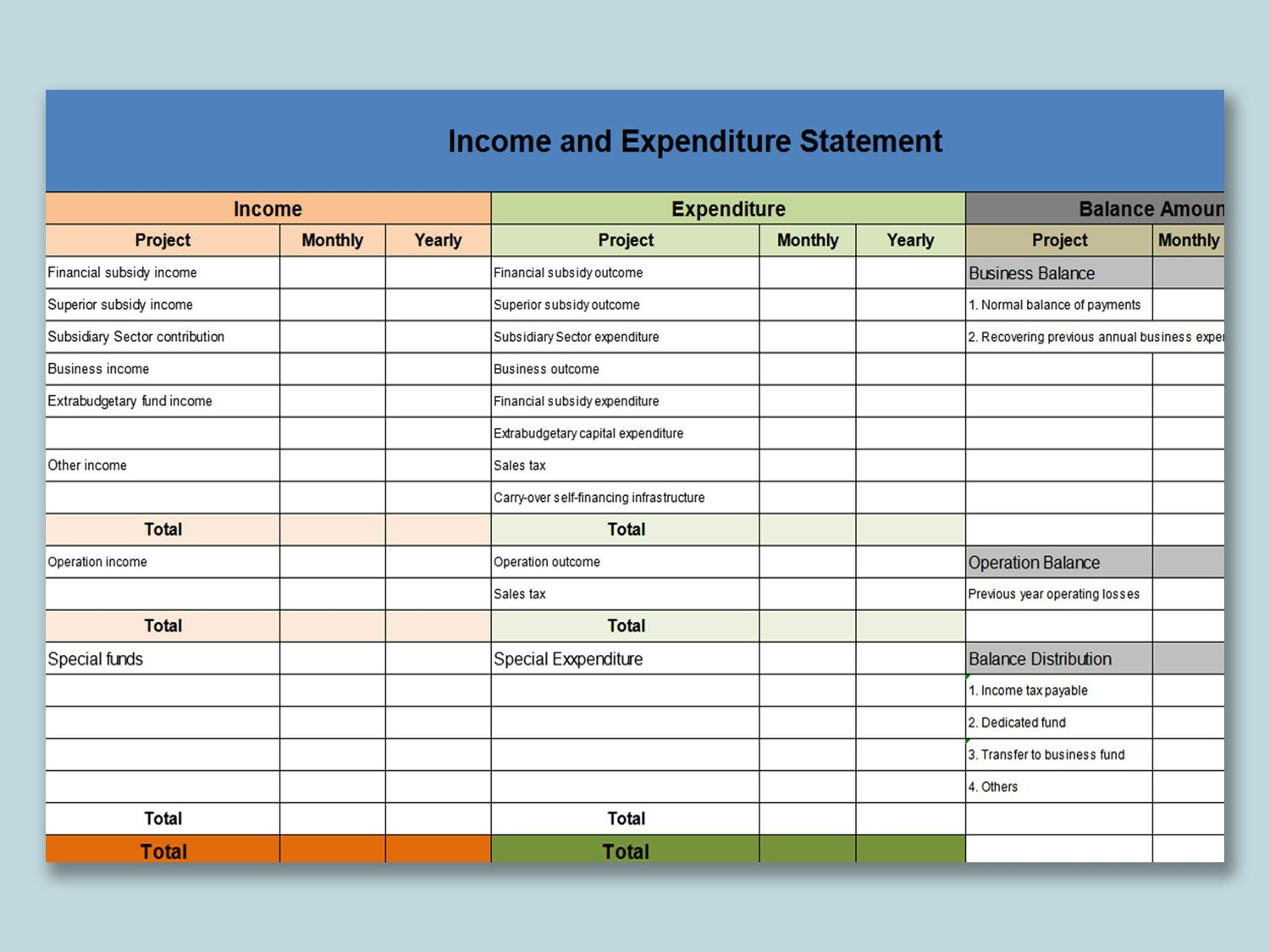 001 Sensational Personal Income Expense Statement Template Excel Photo Full