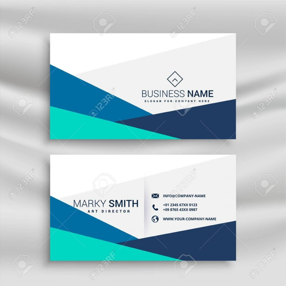 001 Sensational Simple Visiting Card Design Example  Calling Busines Template Free In Photoshop960