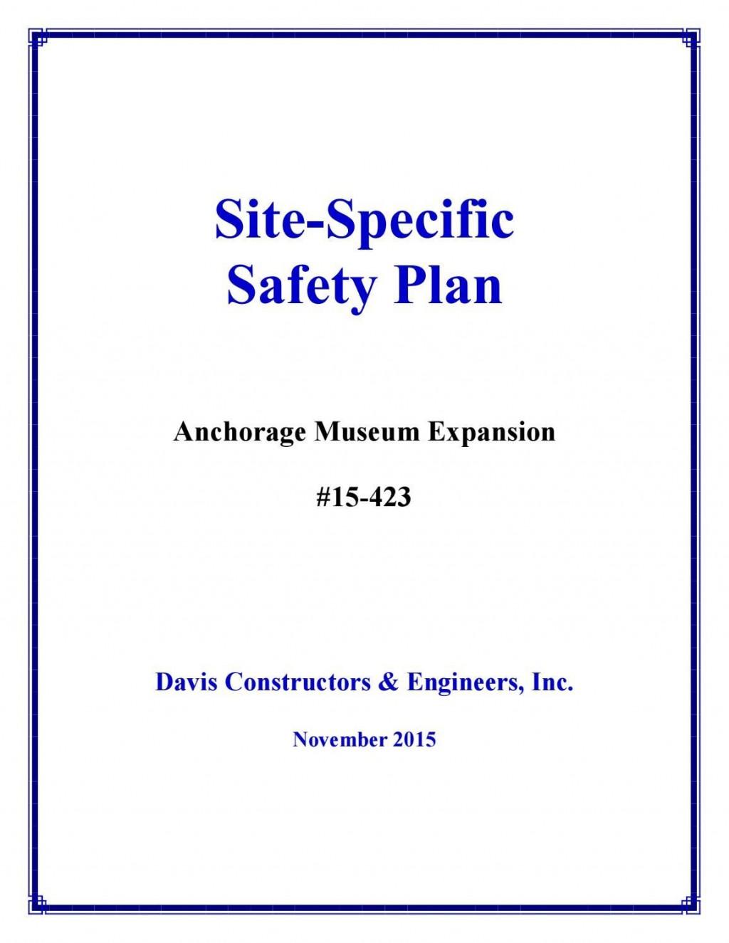 001 Sensational Site Specific Safety Plan Template Osha Inspiration Large