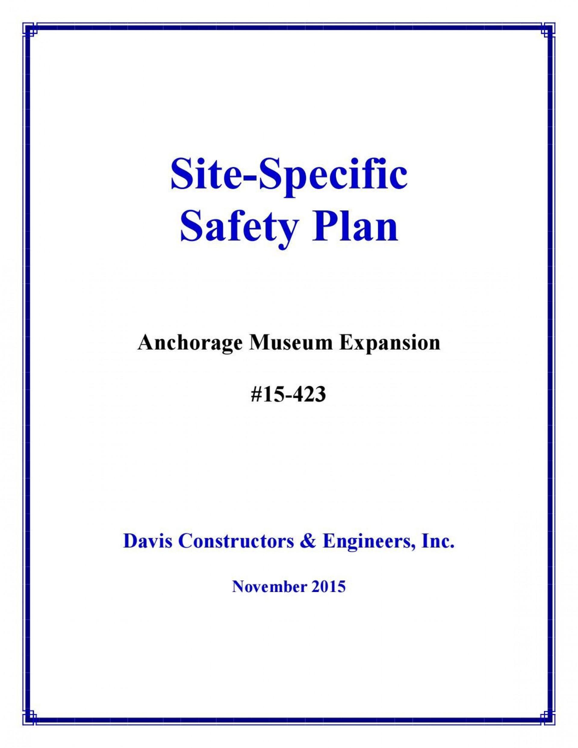 001 Sensational Site Specific Safety Plan Template Osha Inspiration 1920