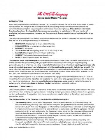 001 Sensational Social Media Policy Template Example  2020 Australia Nonprofit360
