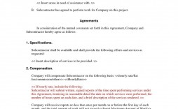 001 Sensational Subcontractor Agreement Template Free Picture  Construction Word