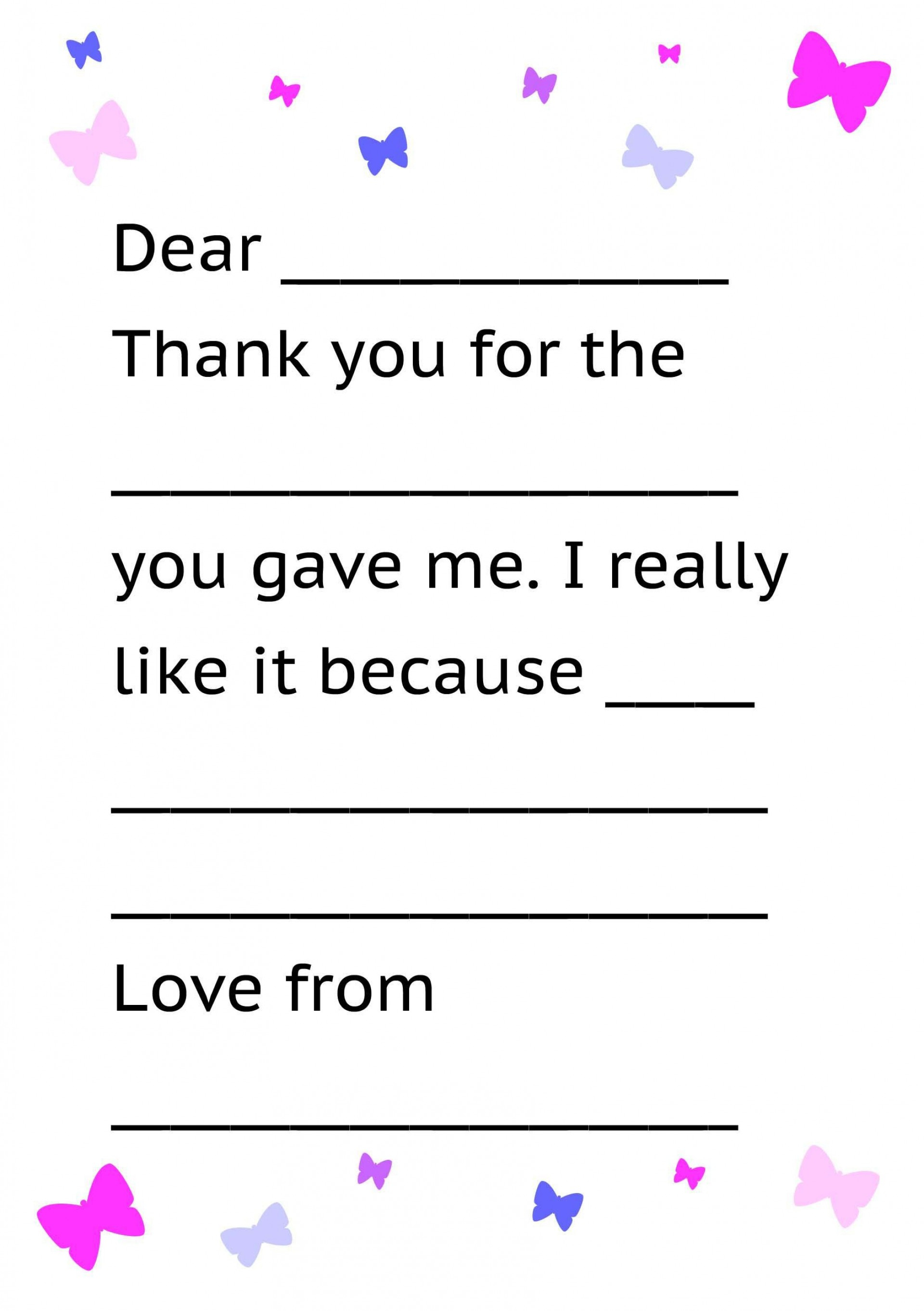 001 Sensational Thank You Note Template For Kid Example  Kids Child Pdf Letter1920
