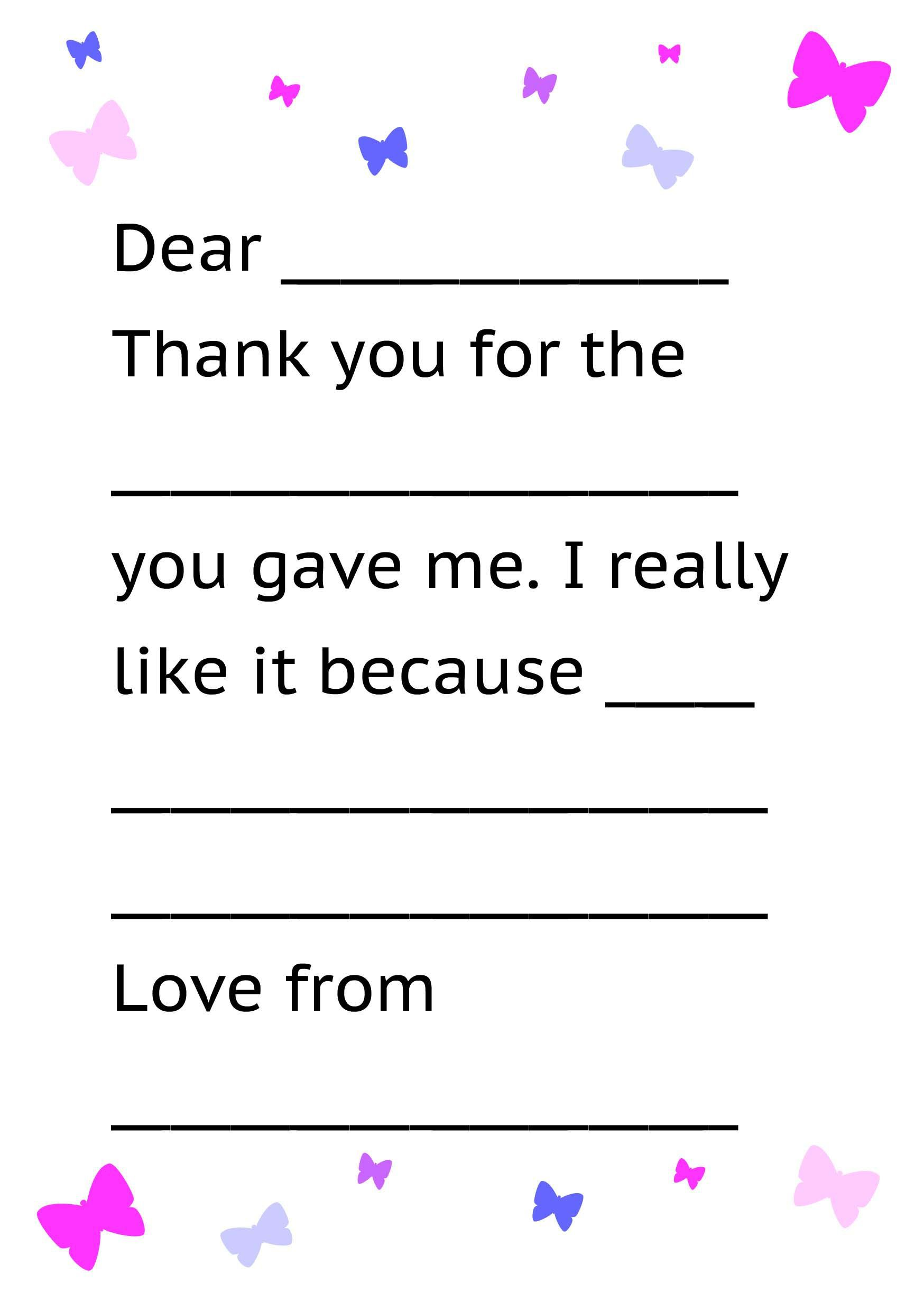 001 Sensational Thank You Note Template For Kid Example  Kids Child Pdf LetterFull