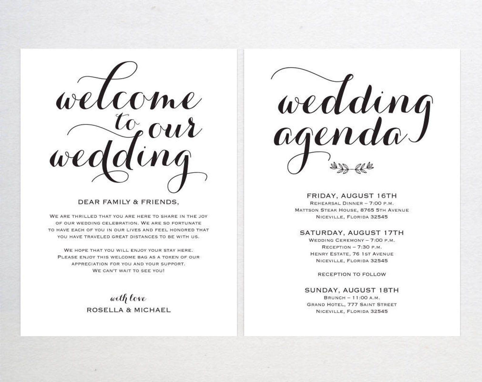 001 Sensational Wedding Welcome Bag Letter Template Free High Definition Full