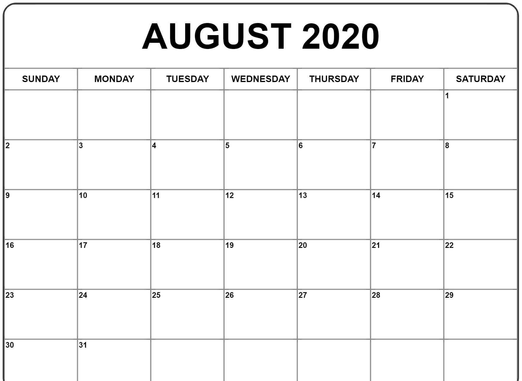 001 Sensational Word 2020 Monthly Calendar Template Design  Uk FreeFull