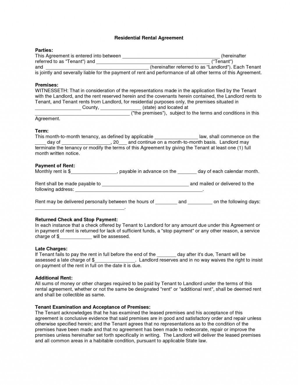 001 Shocking Beat Lease Contract Template Inspiration  Unlimited PdfLarge