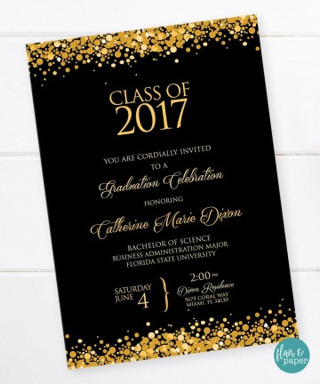 001 Shocking College Graduation Invitation Template Idea  Party Free For Word360