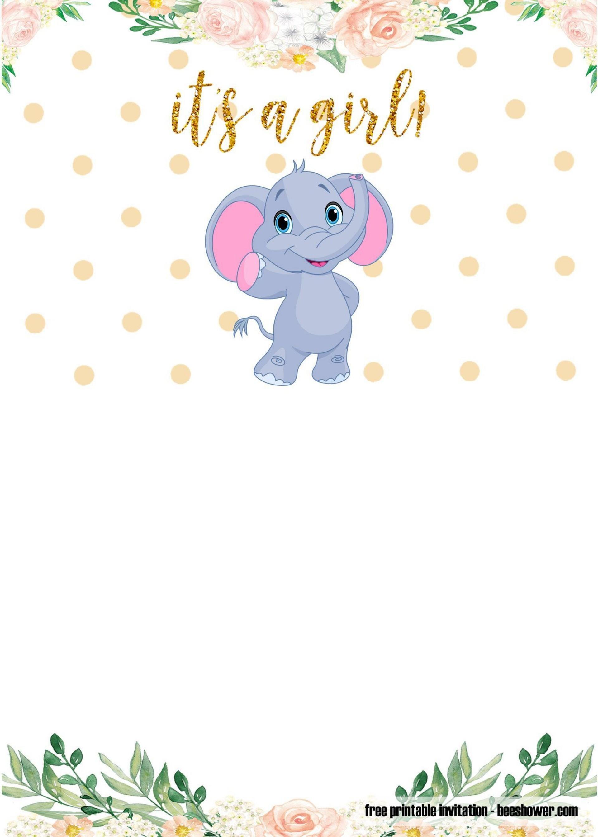 001 Shocking Elephant Baby Shower Invitation Template Concept  Templates Free Pdf Boy1920