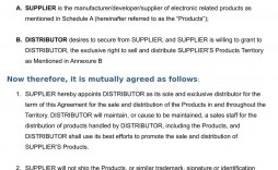 001 Shocking Exclusive Distribution Agreement Template Free Download Highest Quality