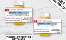 001 Shocking Fake Prescription Bottle Label Template Design