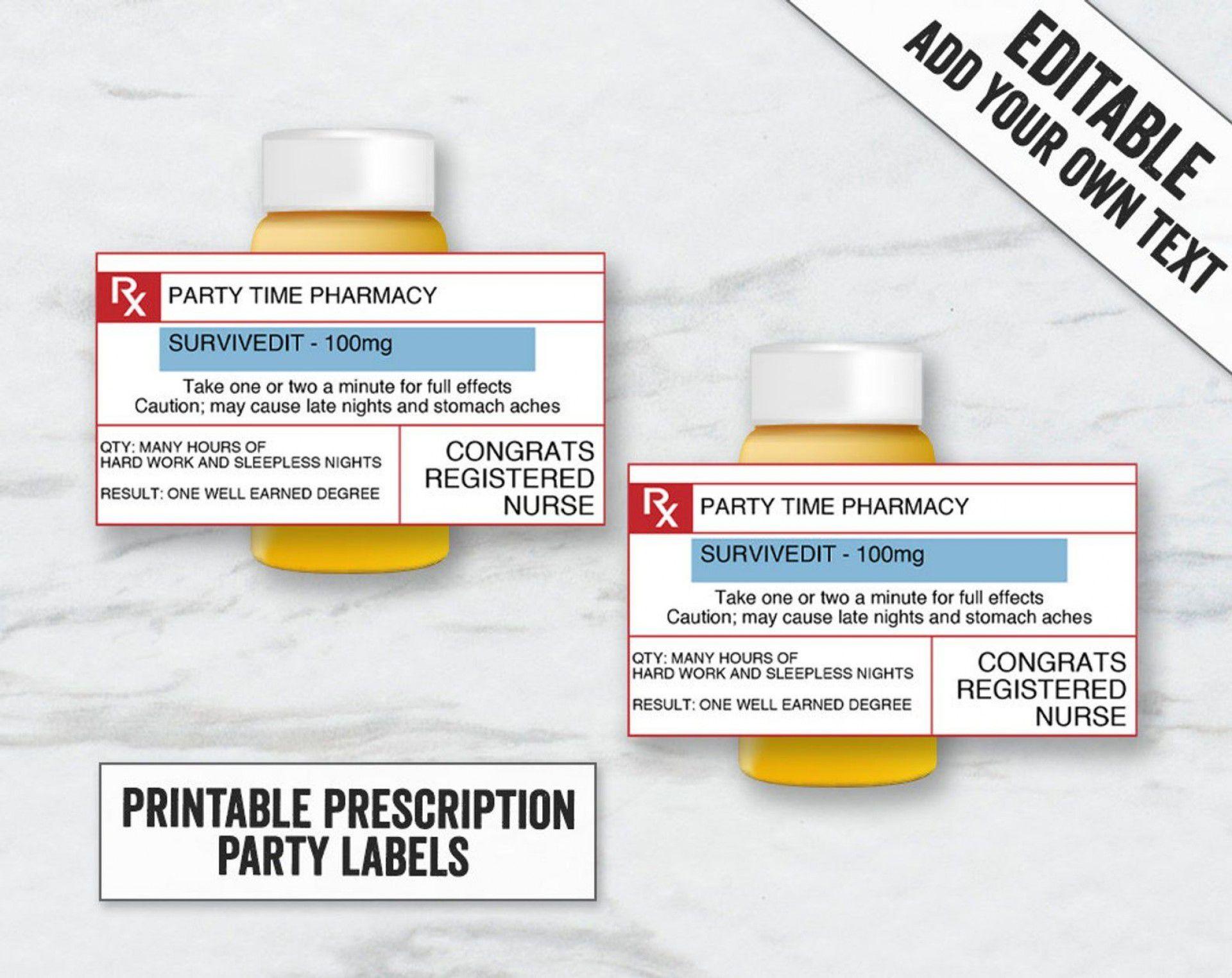 001 Shocking Fake Prescription Bottle Label Template Design Full