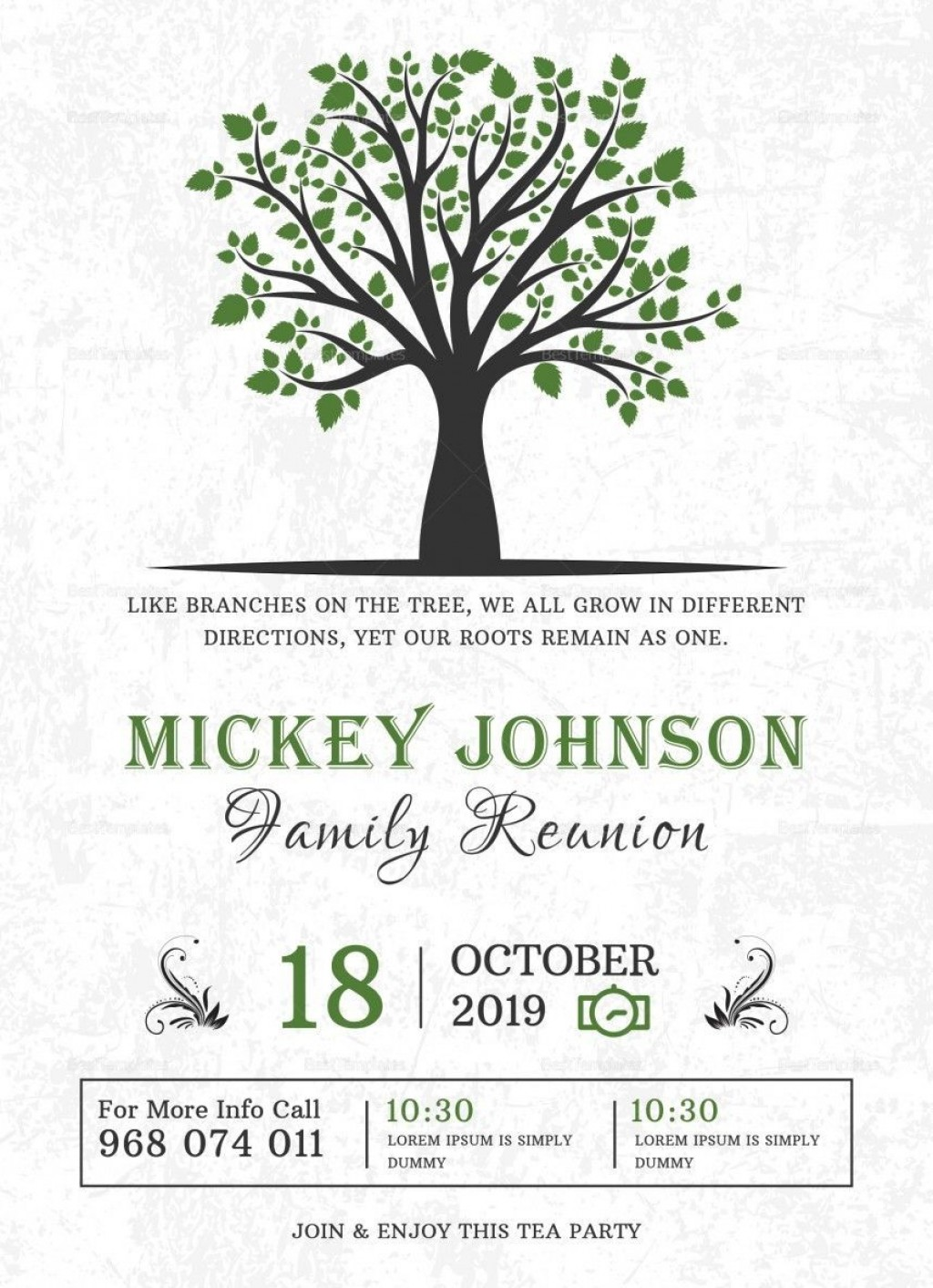 001 Shocking Family Reunion Flyer Template Word Sample Large