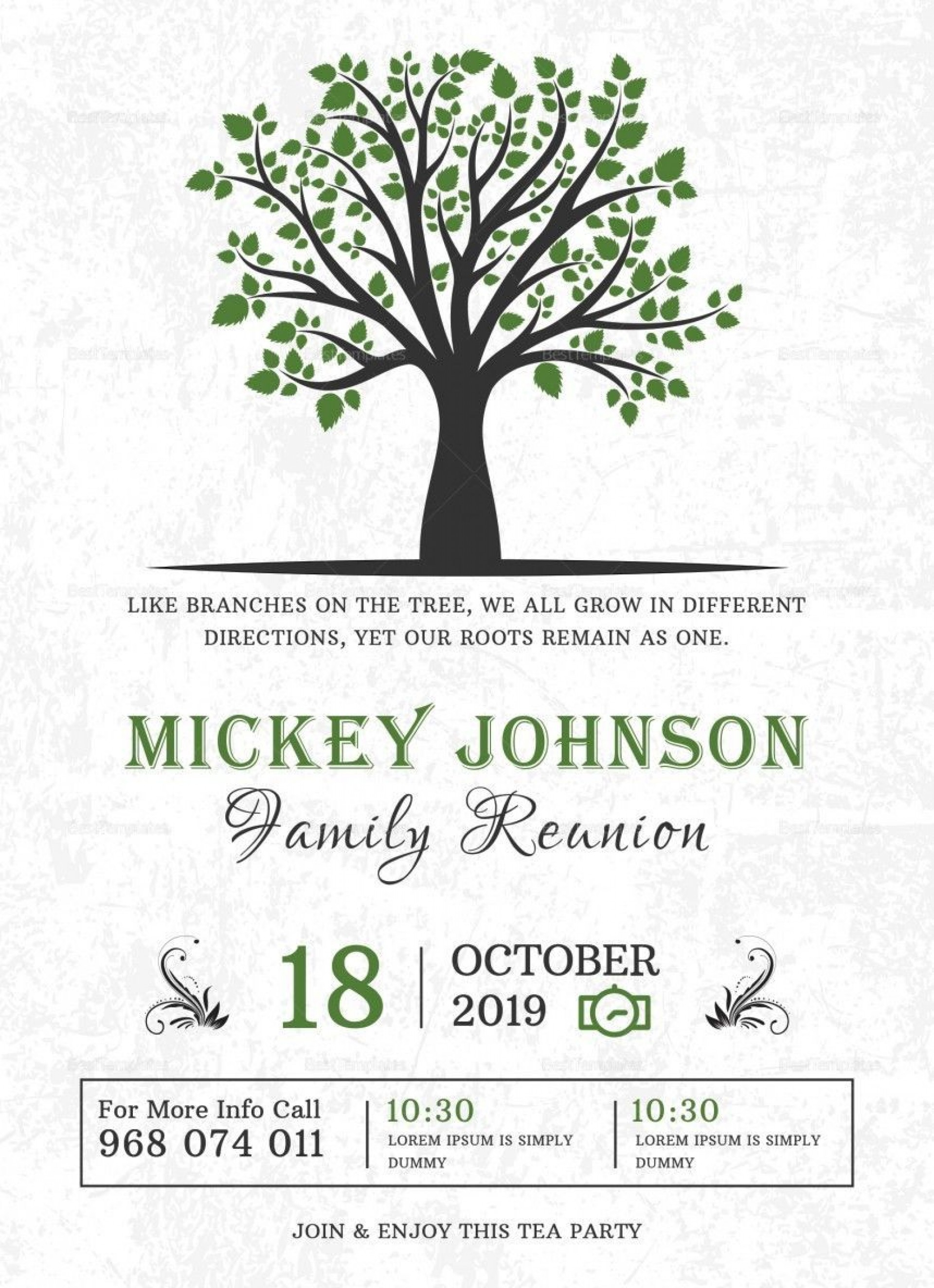 001 Shocking Family Reunion Flyer Template Word Sample 1920