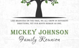 001 Shocking Family Reunion Flyer Template Word Sample
