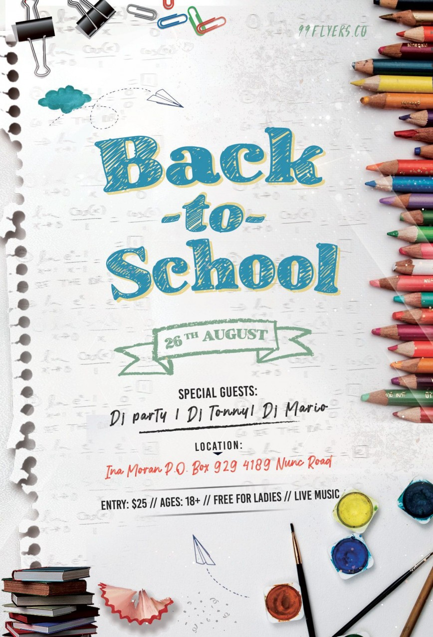 001 Shocking Free Back To School Flyer Template Word Photo 868