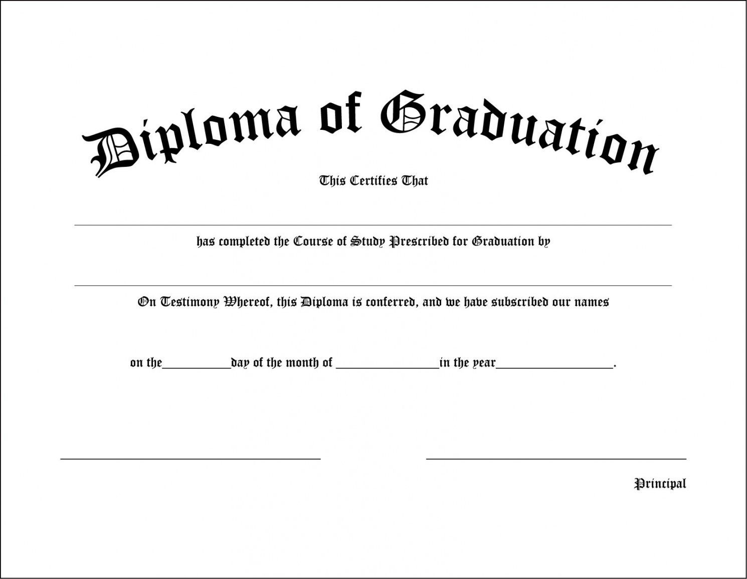 001 Shocking Free Editable High School Diploma Template Definition  Templates Printable With Seal FillableFull