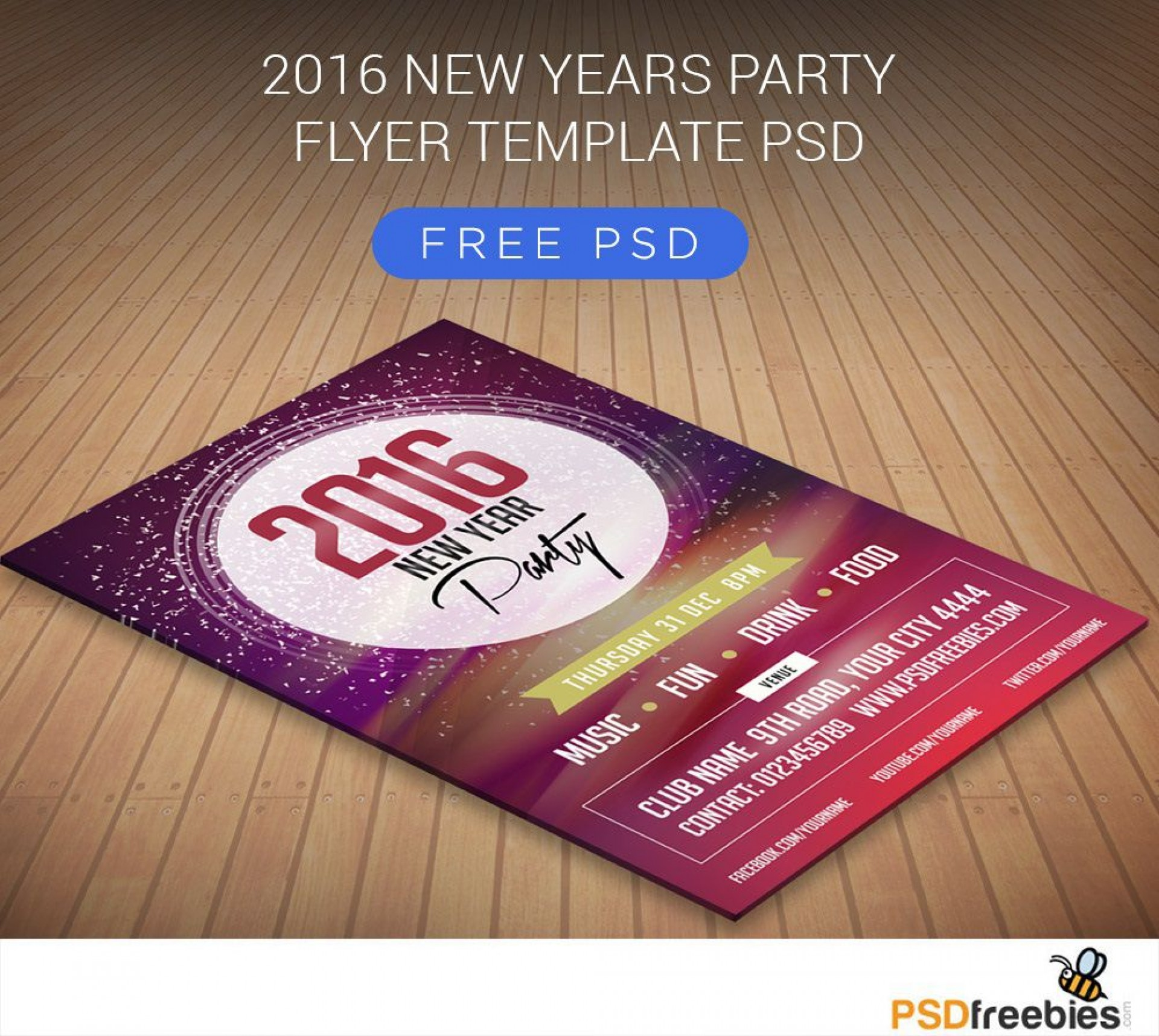 001 Shocking Free Psd Party Flyer Template Download Highest Clarity  - Neon Glow Rave1920