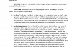 001 Shocking Free Service Contract Template Pdf Inspiration