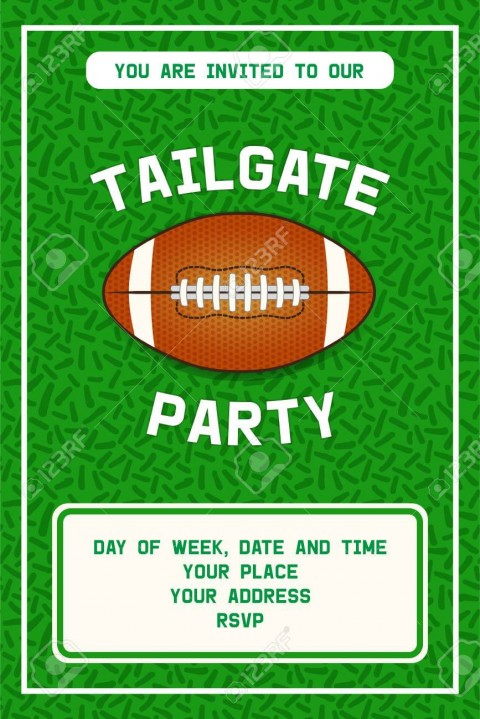 001 Shocking Free Tailgate Party Flyer Template Download Photo 480