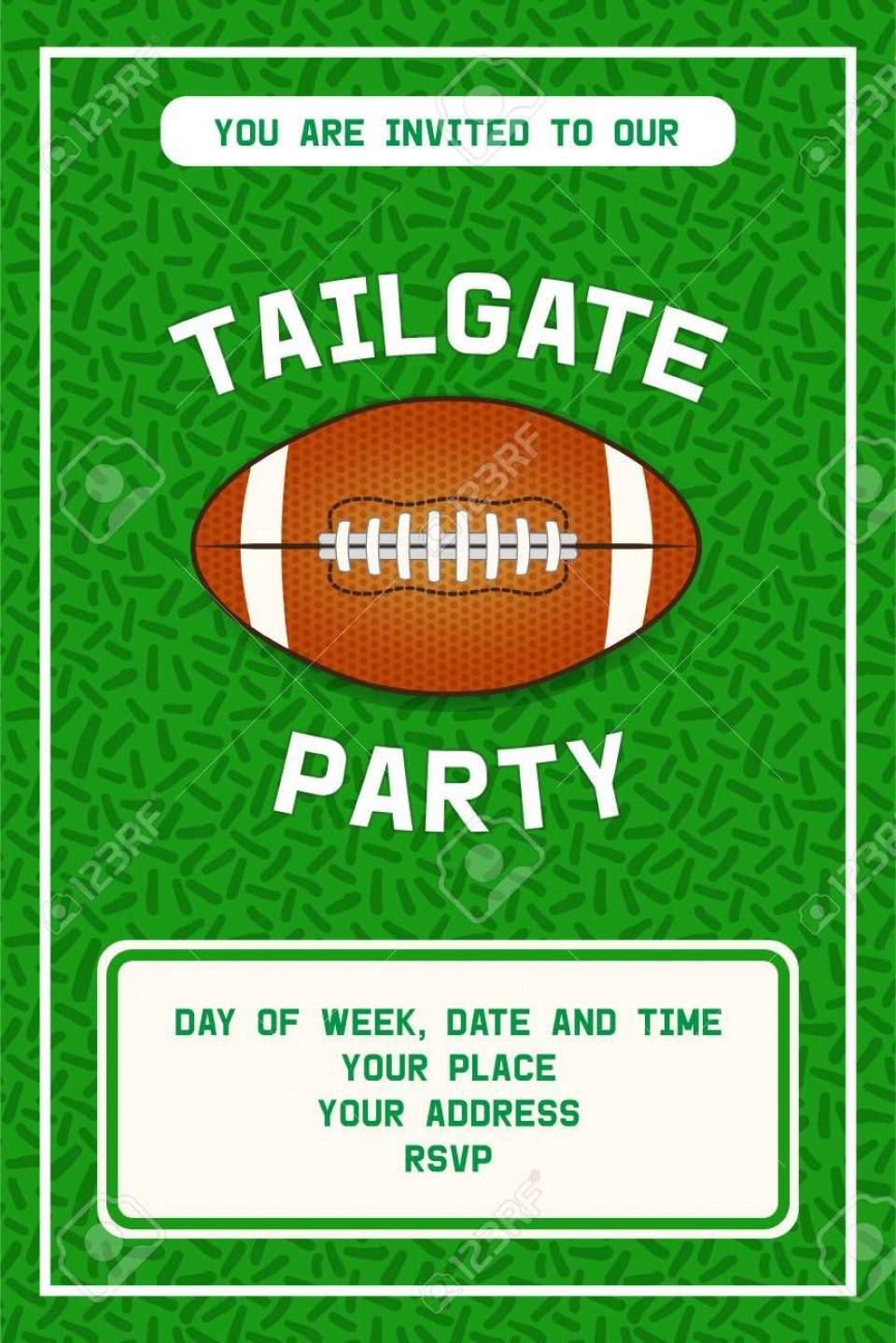 001 Shocking Free Tailgate Party Flyer Template Download Photo 960