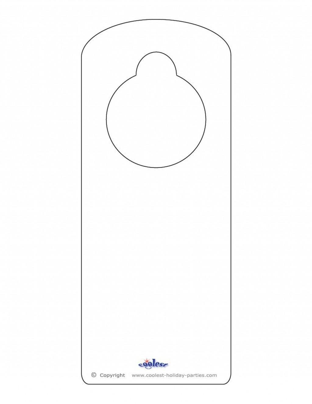 001 Shocking Free Template For Door Hanger High Resolution  Hangers Printable KnobLarge