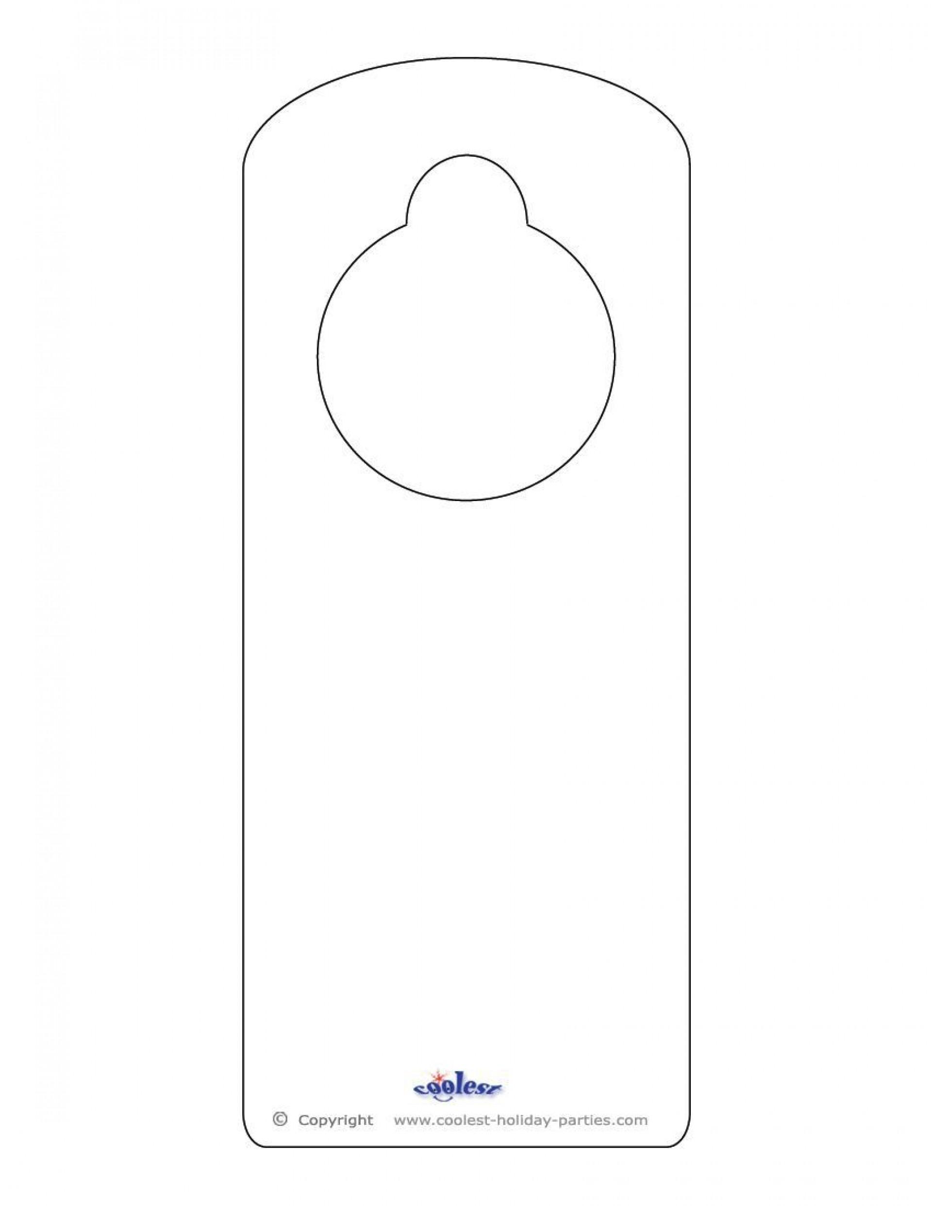 001 Shocking Free Template For Door Hanger High Resolution  Hangers Printable Knob1920