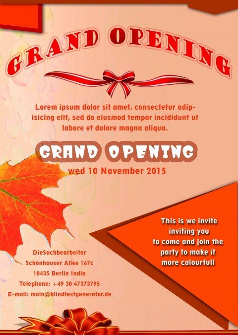 001 Shocking Grand Opening Flyer Template Example  Free Psd Busines480