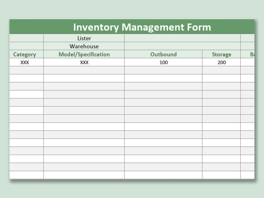 Inventory Management Excel Template ~ Addictionary