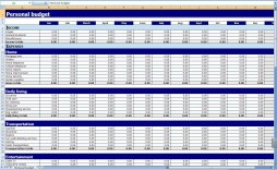 001 Shocking Microsoft Office Excel Monthly Budget Template Image