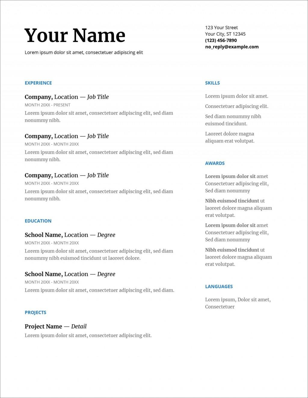 001 Shocking Resume Template For Wordpad Picture  Free Cv DownloadLarge