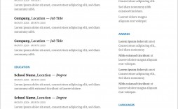 001 Shocking Resume Template For Wordpad Picture  Free Cv Download