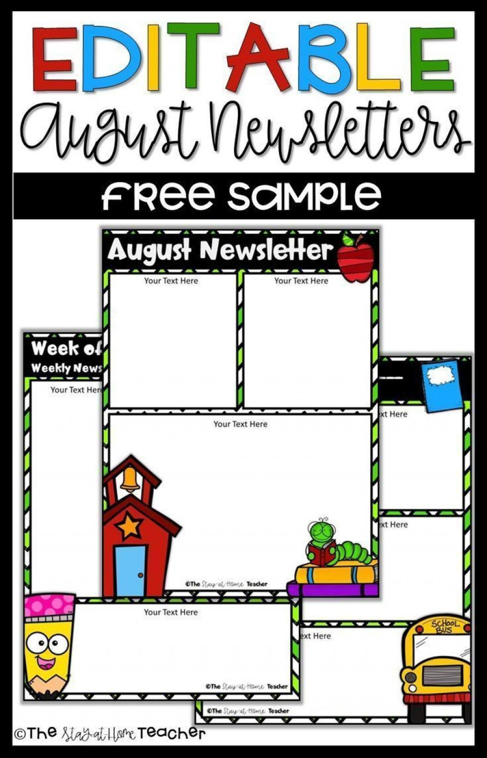 001 Shocking School Newsletter Template Free Highest Clarity  Publisher Editable Counselor960