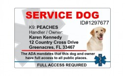 001 Shocking Service Dog Certificate Template Photo  Printable Id Free