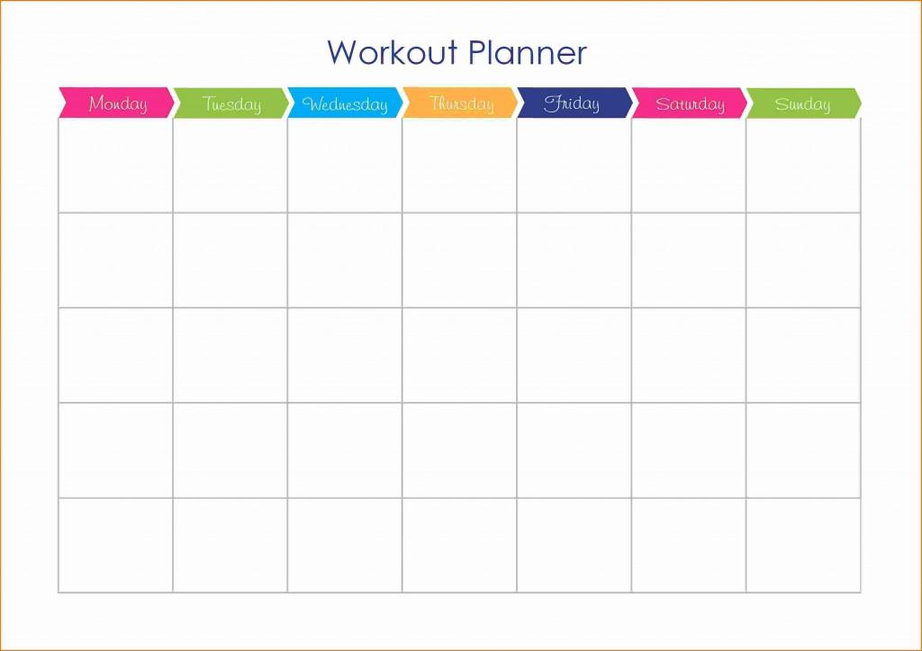 001 Shocking Weekly Workout Schedule Template Inspiration  12 Week Plan Training CalendarLarge