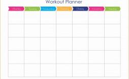 001 Shocking Weekly Workout Schedule Template Inspiration  12 Week Plan Training Calendar
