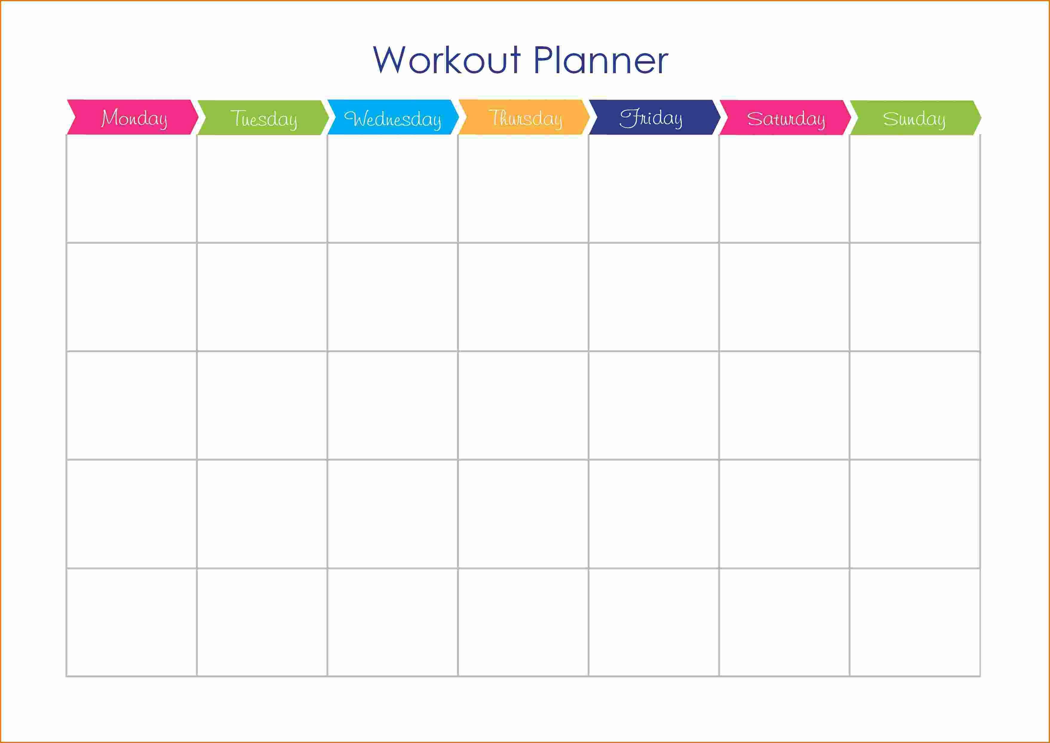 001 Shocking Weekly Workout Schedule Template Inspiration  12 Week Plan Training CalendarFull