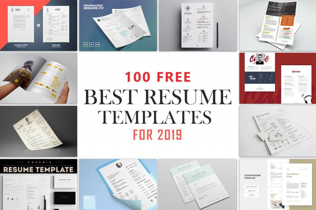 001 Simple Best Free Resume Template 2020 Design  Word ReviewLarge