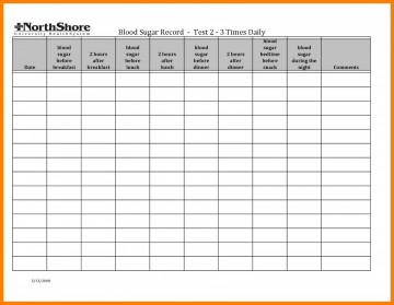 001 Simple Blood Glucose Spreadsheet Template Idea  Tracking360