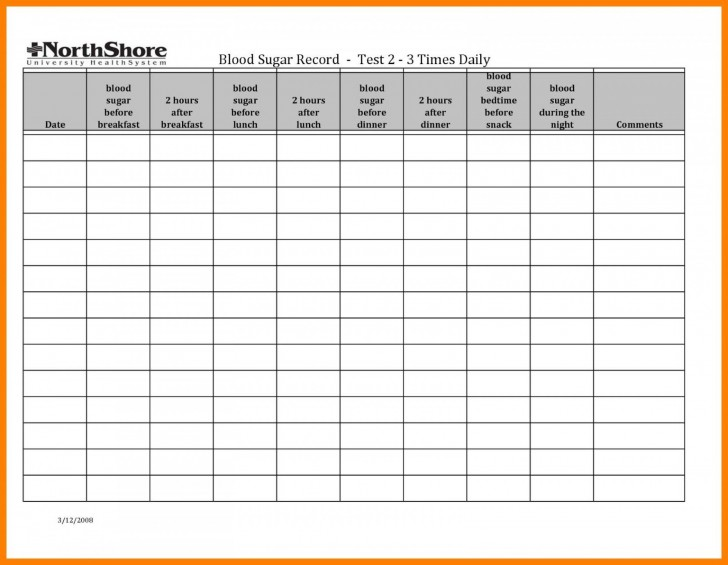001 Simple Blood Glucose Spreadsheet Template Idea  Tracking728