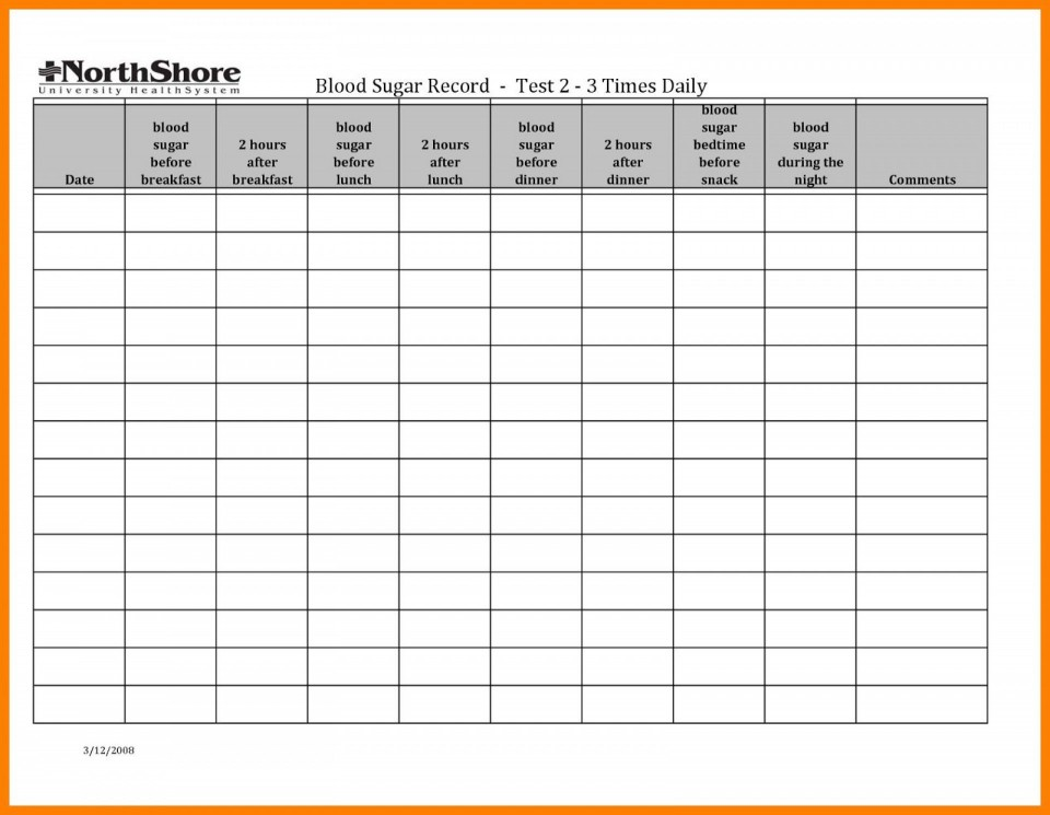 001 Simple Blood Glucose Spreadsheet Template Idea  Tracking960
