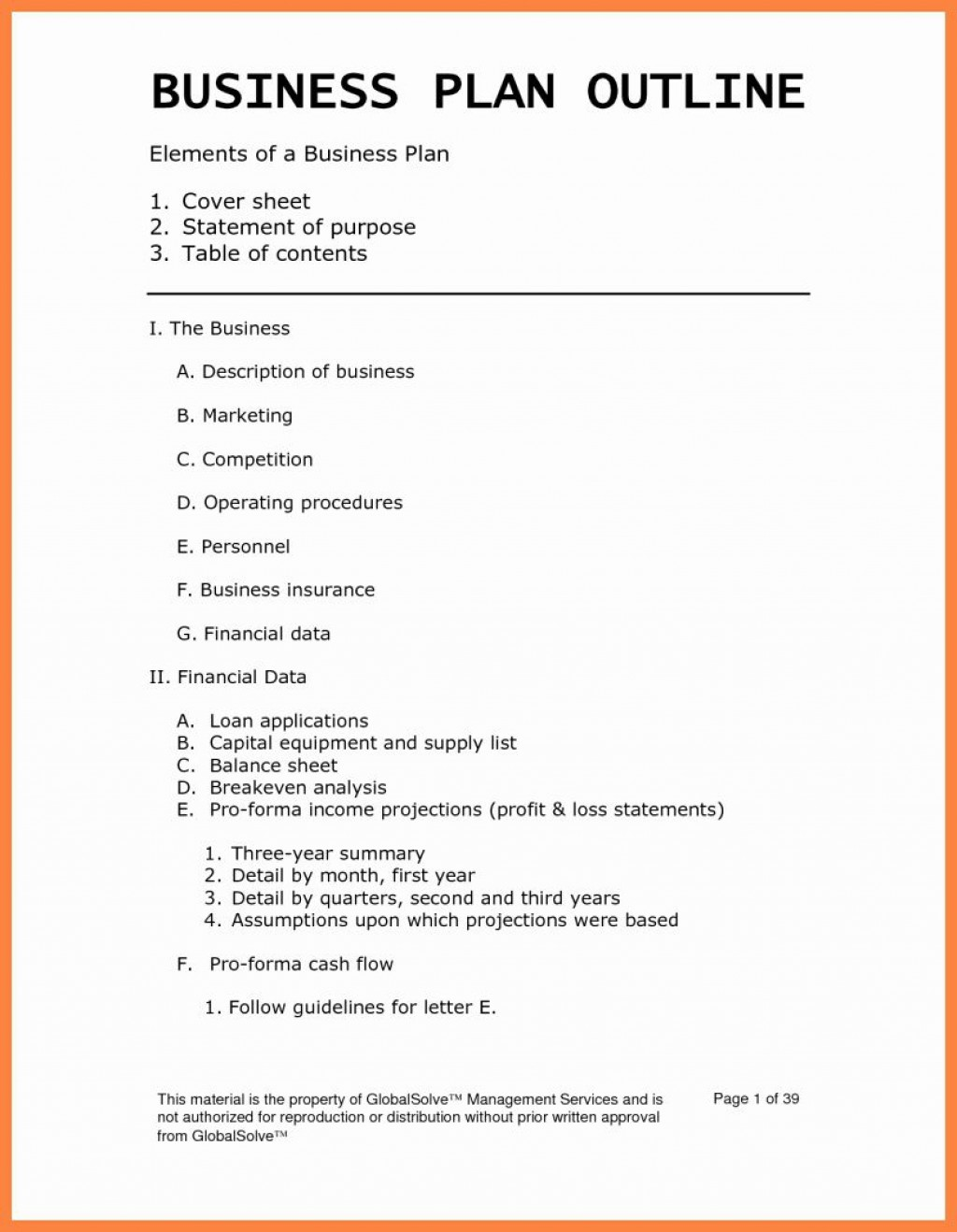 001 Simple Busines Plan Word Template Highest Clarity  Templates Doc Free Download SaleLarge