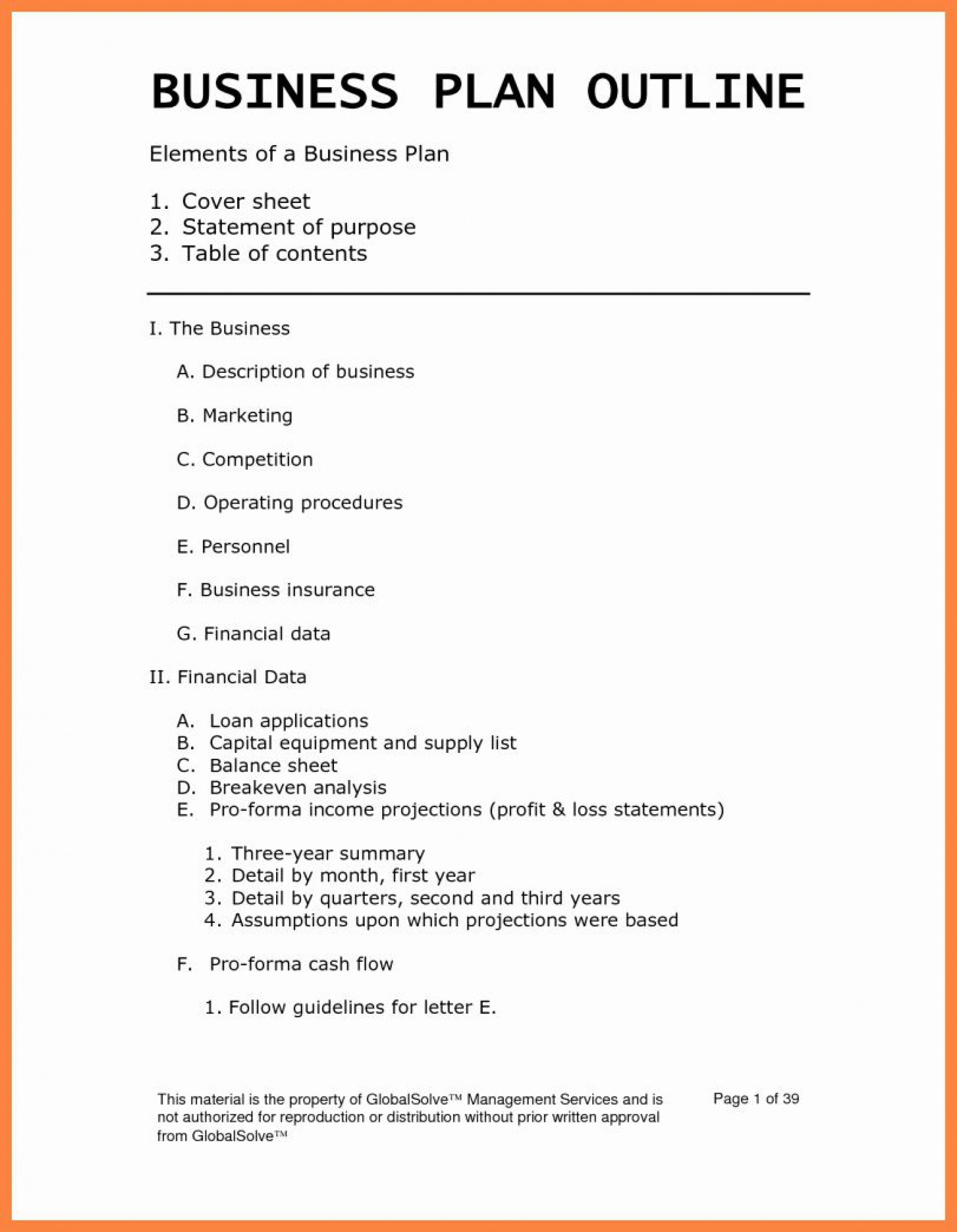 001 Simple Busines Plan Word Template Highest Clarity  Templates Doc Free Download Sale1920