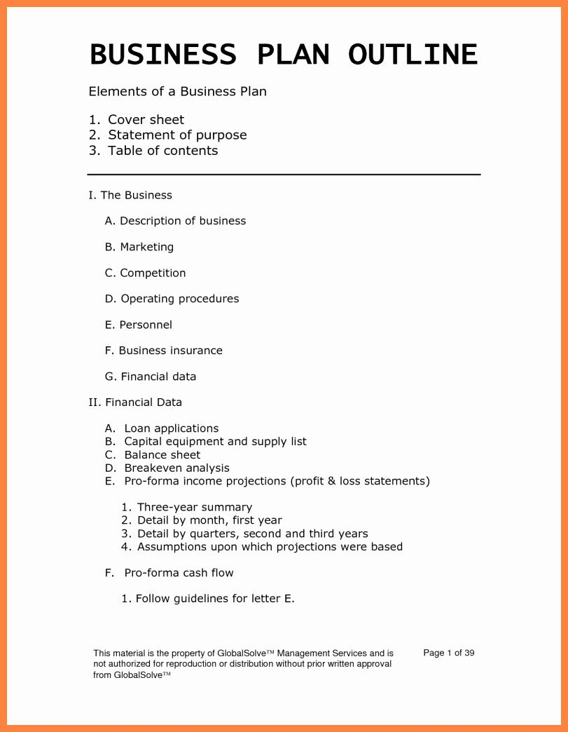 001 Simple Busines Plan Word Template Highest Clarity  Templates Doc Free Download SaleFull