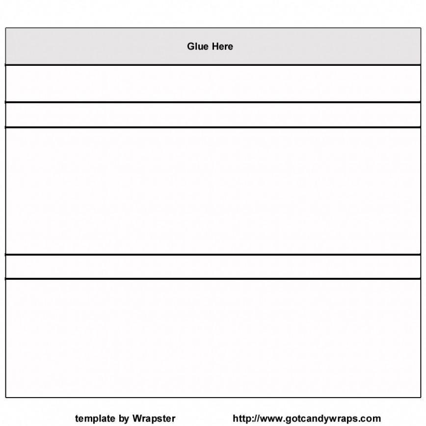 001 Simple Candy Bar Wrapper Template Measurement Photo  Dimension868