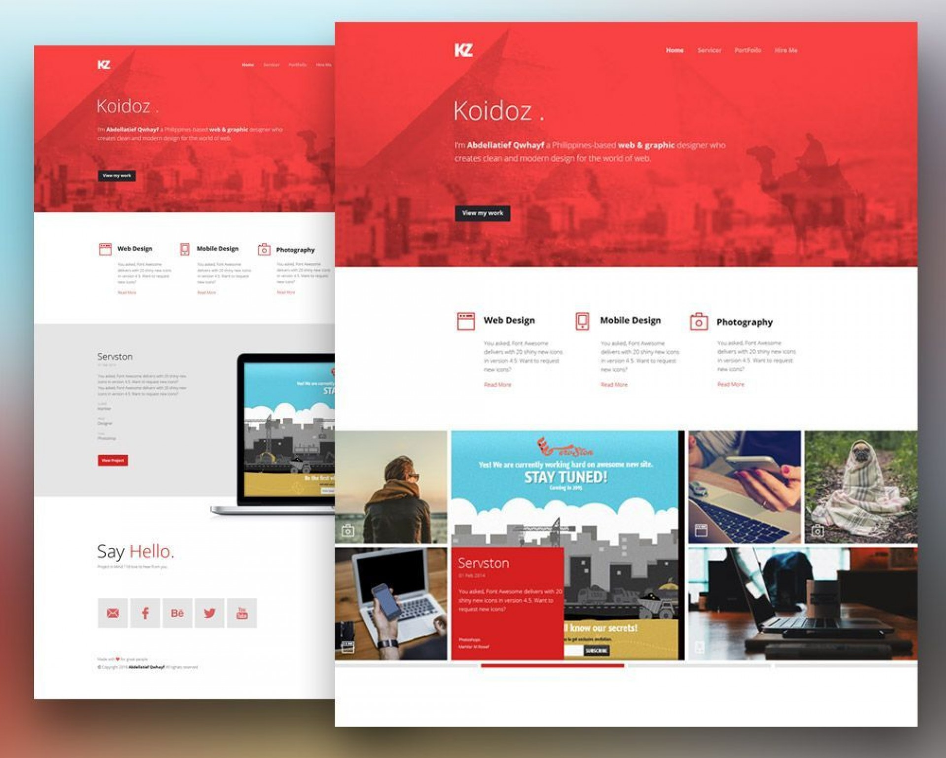 001 Simple Creative One Page Website Template Free Download Inspiration 1920