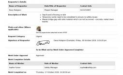 001 Simple Excel Work Order Form Design  Forms Maintenance