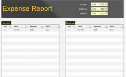 001 Simple Expense Report Template Free High Def  Pdf Excel Download