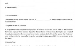 001 Simple Family Loan Agreement Template Uk Free High Definition